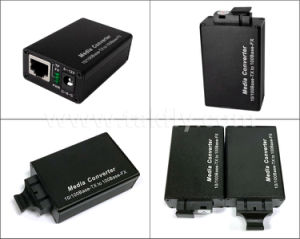 100m Ethernet Mini Fiber Media Converter with 1 Fiber Port pictures & photos
