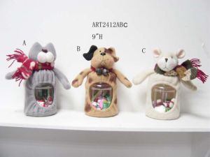 Cat, Dog and Mouse Decoration Gift Candy Jar pictures & photos
