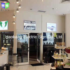 Snap Aluminum White Picture Frame Slim LED Light Box for Store Sign pictures & photos