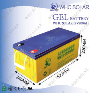 12V 150ah Long Life Rechargeable Gel Battery for Solar Power System pictures & photos