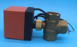 110/230VAC Line Voltoge Electric Motorised Ball Zone Mixing Valve pictures & photos