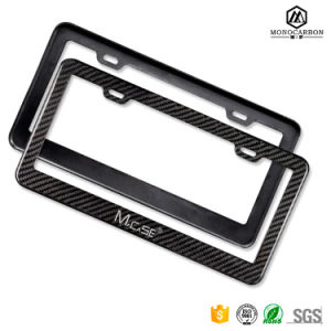 Custom Deluxe Ultra Thin Real Pure 100% Carbon Fiber Matte License Plate Frames Wholesal pictures & photos