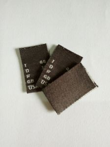 Grey Base White Text Clothing Woven Size Label pictures & photos