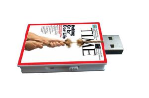 Customized White Book Magazine USB Flash Memory Stick Pen Drive pictures & photos