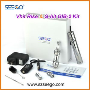 Hot Selling Pyrex Glass Seego Vhit Rise Wax Vaporizer +Battery Pen Kit with Huge Vapor pictures & photos