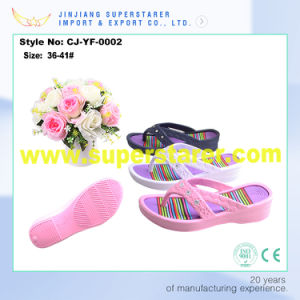 Wholesale Colorful EVA Lady Slippers Flip Flops pictures & photos