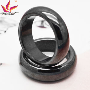 Htr-006A Classical Fashion Original 6mm Width Black Shining Hematite Finger Ring pictures & photos