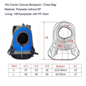 Enrich Outside Pet Carrier Bags for Small Dog, Cat Comfort Dog Travel Carrier Backpack Front pictures & photos