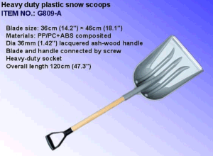Heavy Duty Plastic Snow Shovel pictures & photos