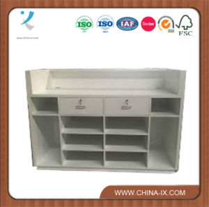 Checkout Counter Office Furniture with Drawer and Shelves pictures & photos