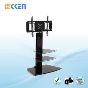 Wholesale Cheap Made in China Glass Modern Corner LED LCD TV Stand pictures & photos
