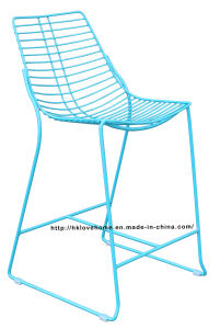 Modern Metal Dining Restaurant Stackable Side Wire Counter Chair pictures & photos