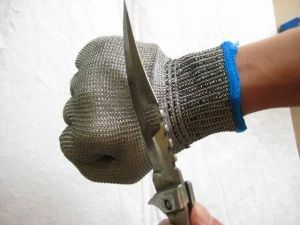 Stainless Steel Double Layers Metal Mesh Work Glove pictures & photos