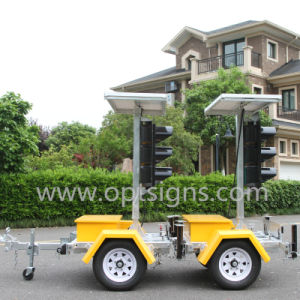 Optraffic OEM Cost Effective Mobile Portable Solar Traffic Lights, LED Traffic Lights, Traffic Lights pictures & photos