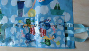 PP Woven BOPP Laminated Promotional Picnic Mat with Handle pictures & photos