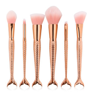 Wholesales for 4 Color 6PCS Mermaid Makeup Brushes Set pictures & photos