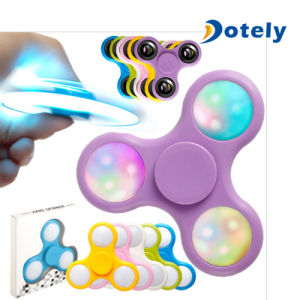 Rotating Fidget Finger Spinner with Color Changing LED Lights pictures & photos