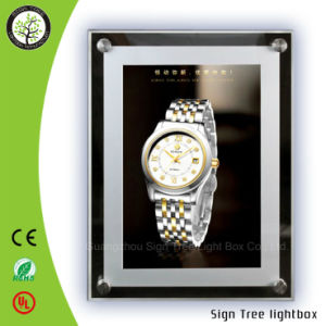 High Quality Ultrathin Slim Crystal Aluminum Snap Frame DIY LED Light Box pictures & photos