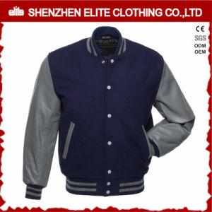 Fashion Plain 100% Polyester Woolen Bomber Jacket Men (ELTBQJ-537) pictures & photos