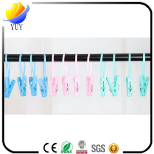 Multifunctional Drying Clothes Towel Plastic Clothes Peg with Rope Fixed Towel Clip pictures & photos