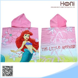 D-048 China Manufacture Kids Hooded Bath Towel pictures & photos