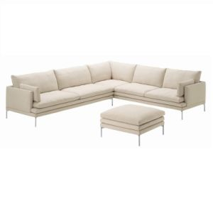 Modern American Style Living Room Fabric Corner Sofa Set (F1113) pictures & photos