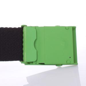 Black Cotton Canvas Webbing Logo Military Buckle Belt pictures & photos