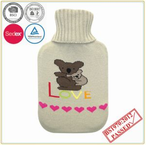 2L Hot Water Bottle with Bear Design Knitted Cover pictures & photos
