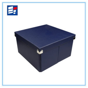 Leatherette Paper Storage Box for Packing Cloth and Shoes pictures & photos