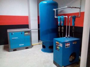 5.5kw Quality and Quantity Assured Tank Combined Belt Driven Screw Air Compressor pictures & photos