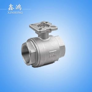 Stainless Steel 2PC Ball Valve Mounting Pad Dn15 pictures & photos
