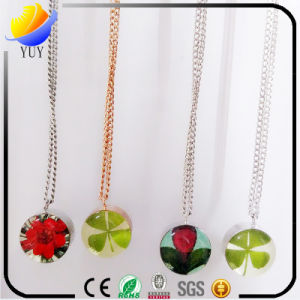 Colorful Resin Stone with Diamond Necklace pictures & photos