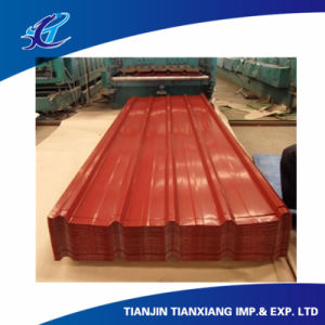 Profile Steel Color Coated Aluzinc Corrugated Steel Sheet pictures & photos