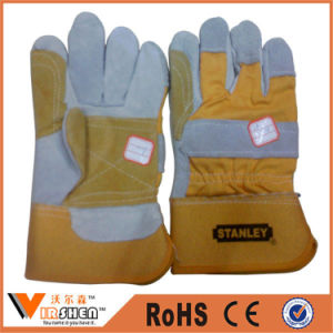 Cowhide Split Work Safety Welding Leather Industrial Gloves pictures & photos