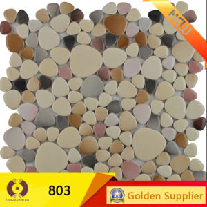 Round Glass Ceramic Marble Mosaic Building Material Mosaic (19005) pictures & photos