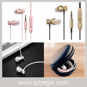 Colorful 3.5mm Metal Subwoofer Stereo in-Ear Wired Earphone with Magnetic pictures & photos