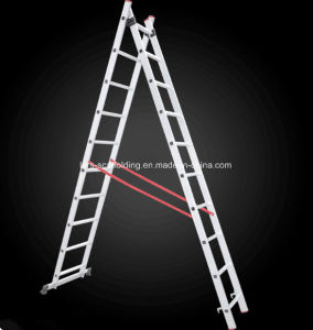 Top Safe Outdoor 2 Section Multi-Purpose Extension Aluminum Ladder for Building Material pictures & photos