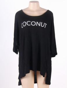 Summer Round Neck Comfortable Black Beach Dress pictures & photos