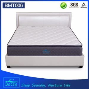 OEM Resilient Bed Mattress 27cm High with 5 Zone Pocket Spring and Deluxe Pillow Top Design pictures & photos