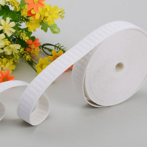 White Flat Non-Roll Woven Polyester Elastic Webbing pictures & photos