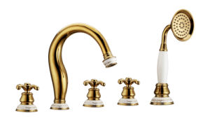 New Design Ceramic Zf-805 Antique Five-Hole Bath Mixer Faucet pictures & photos