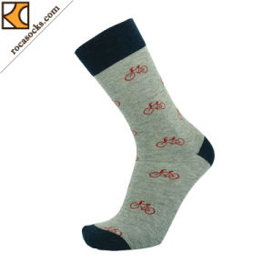 Running Cotton Crew Socks with Bicycle Pattern (163001SK) pictures & photos