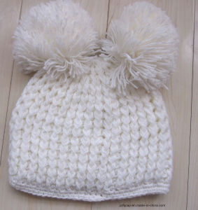 Winter Hat Acrylic Jacquard Beanie Hat Custom Knit Hat POM POM Beanie Hat Handmade Knitted Hat pictures & photos