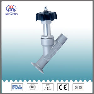 Sanitary Stainless Steel Manual One Welded One Clamped Angle Seat Valve pictures & photos