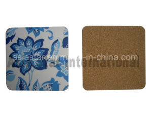 Flower Full Color Printing Square Cork Coaster pictures & photos