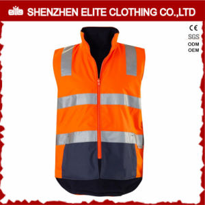 3m Reflective Hi Vis Safety 100 Polyester Work Vest Winter pictures & photos