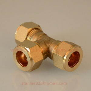 Brass Equal Compression Tee Pex-Al-Pex Fitting pictures & photos