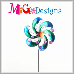 Metal Wind Spinners Beautiful Flower Stake for Garden pictures & photos