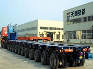 95t Large Parts Transporter and Hydraulic Modular Trailer pictures & photos