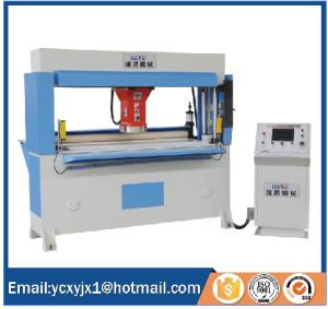 Auto-Feeding by Rubber Roll Precision Four-Column Hydraulic Traveling Head Cutting Machine pictures & photos